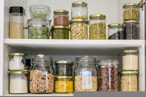 Pantry, In Stock, Glasses, Container