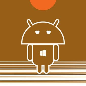 Robot Icon, Android Inspired, Apple Eyes