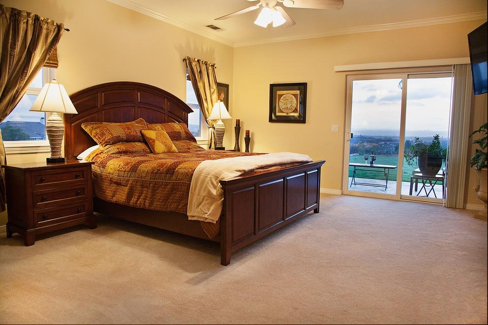 卧室, 表, 豪华, 毯子, 装潢, 生活方式, 住宅, 首页, 家具, 枕头, 房间, 室内, 床, 放松