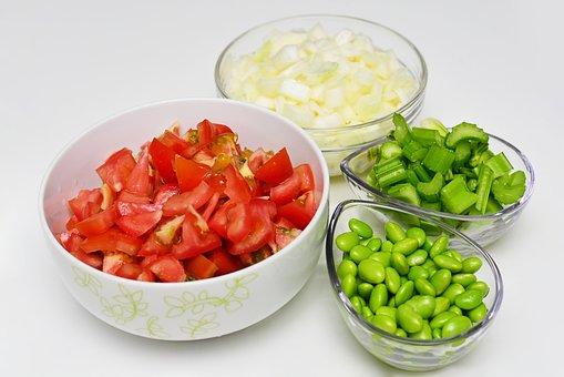 食品, 野菜, トマト, 枝豆, タマネギ, セロリ