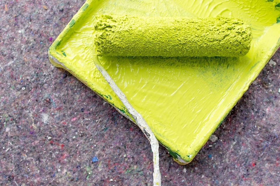 Rollern, Färg, Färgtråg, Målning, Renovera, Ljusgrön