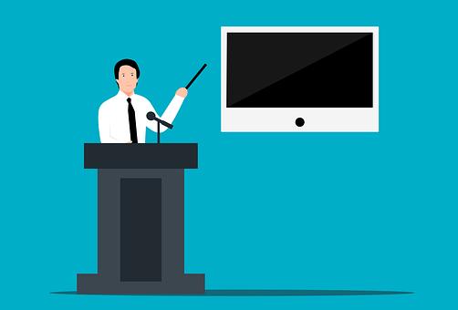 先生, プレゼンテーション, 教育, 導入, 演説, 通信, セミナー, 男 アインの集客マーケティングブログ
