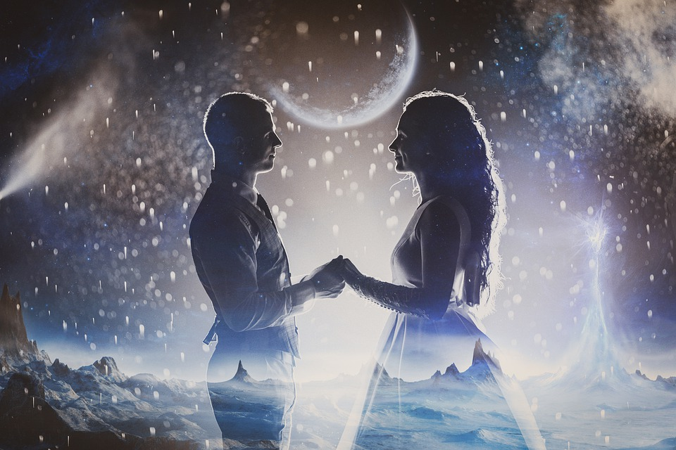 Couple, Romantic, Galaxy, Stars, Universe, Love