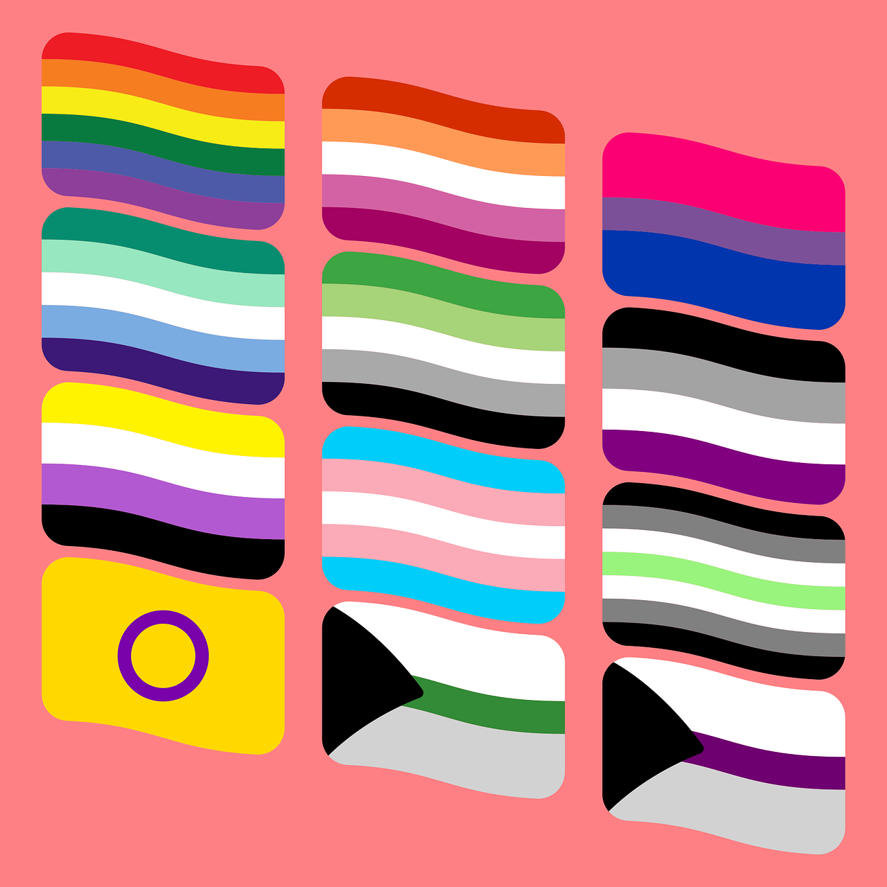 Lgbt Flaggen Symbole - Kostenlose Vektorgrafik auf Pixabay
