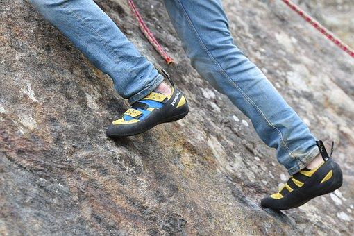 Kletterschuhe, Klettern, Bergsteiger