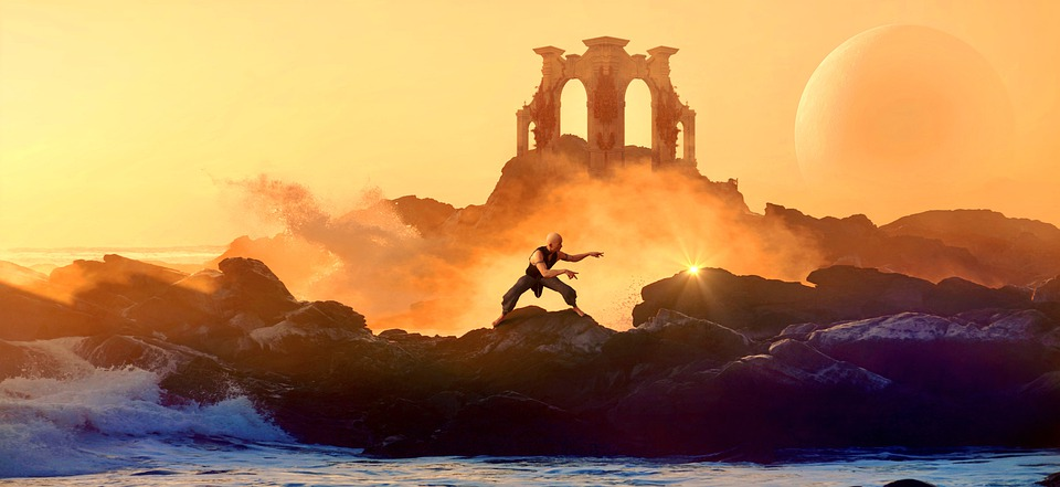 Temple, Monk, Sea, Shaolin, Martial Arts, Religion