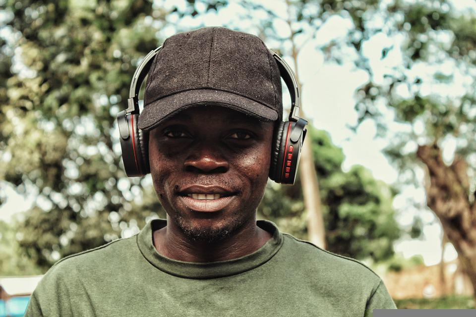 Man, Headphones, Smile, Happy, Music, Listening, Audio