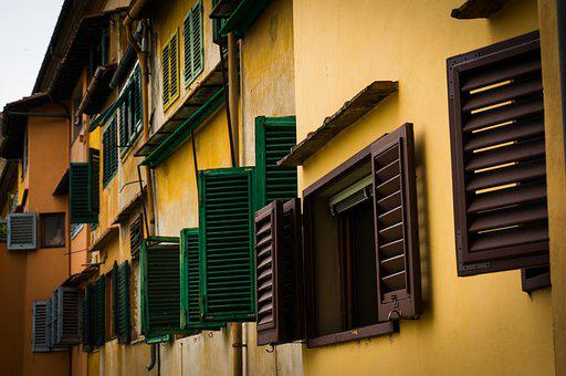 Windows, Building, Tiled, Roofs, Italy