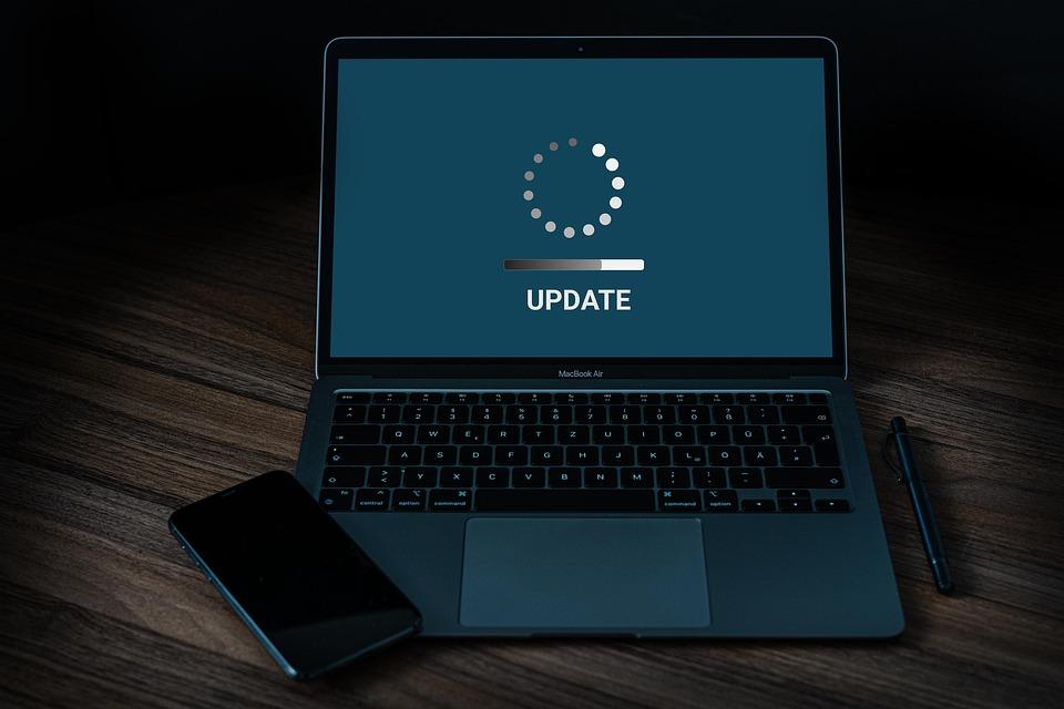 Actualización, Ordenador Portátil, Smartphone, Pantalla