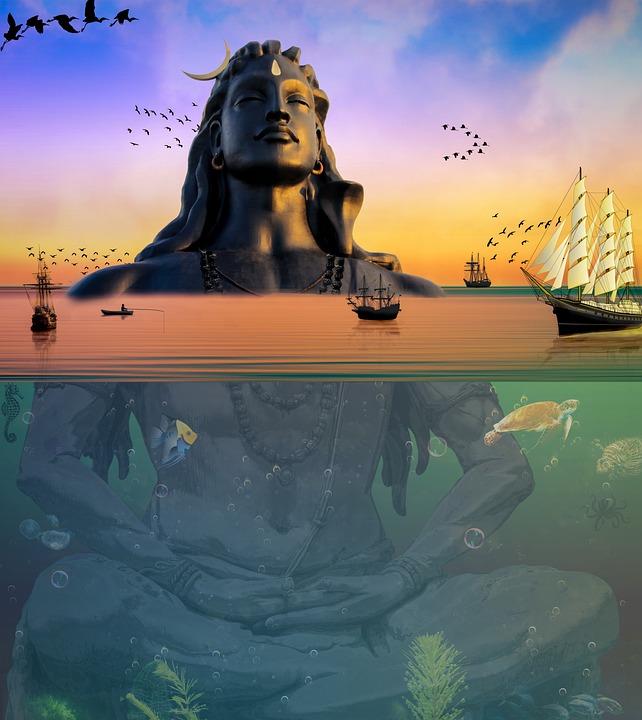 Shiva Statue Sea Free Image On Pixabay