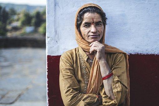 Woman, Indian, Portrait, Smile, Pose