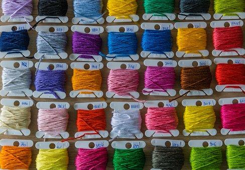 Yarn, Cords, Colorful, Green, Blue