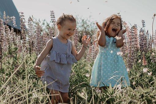 Girls, Nature, Happiness, Kids, Happy