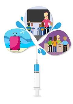 Vacunación, Bar, La Escuela, De Viaje