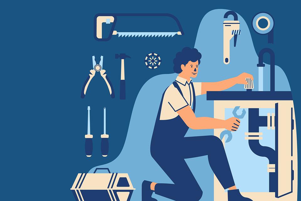 Hydraulik, Człowiek, Naprawy, Zawód, Pracy, Hydraulika