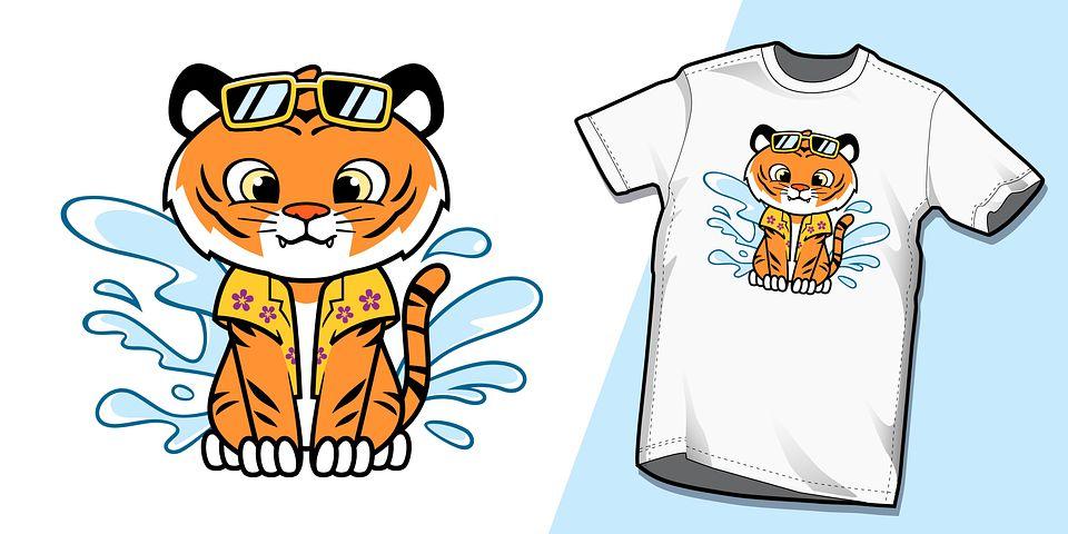 look tee-shirt avec chat