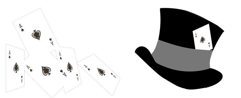 Playing Cards, Ace, Top Hat, Gamble