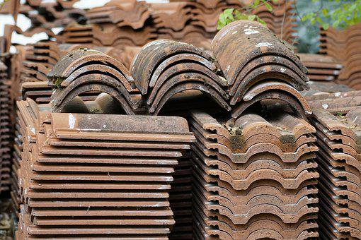 Roof Tiles, Tiles, Pile, Roofing
