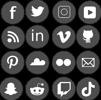 Social Media, Icon Set, Facebook