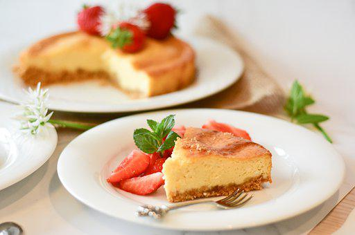 Cheese Cake, Strawberries, Dessert, Cake