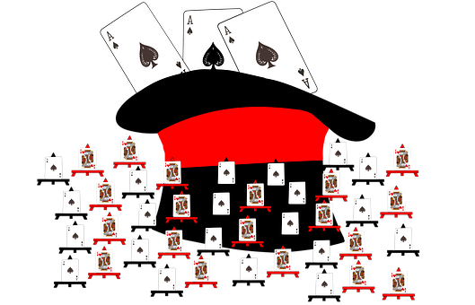 Hat, Playing Cards, Ace, King, Hearts