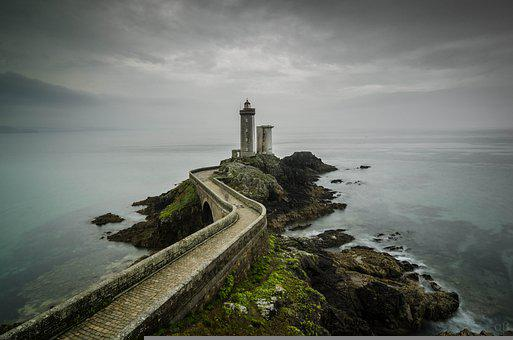 Lighthouse, Bridge, Crossing, Pier