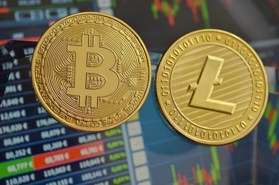Litecoin, Bitcoin, Kryptoměna, Монеты, Btc, Ltc, Деньги