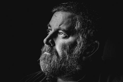 男, 肖像画, 男性, 大人, 髭, プロファイル, ひげを生やした男, 顔