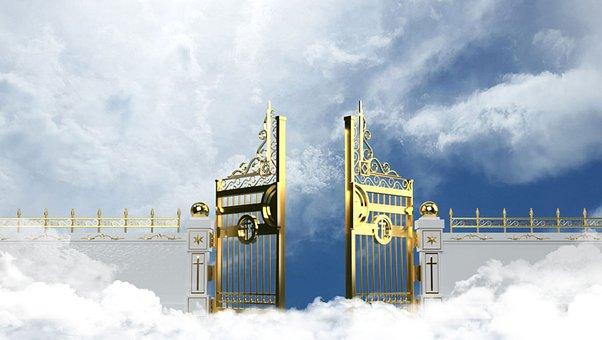 Heaven, Gate, Clouds, Paradise, Sky