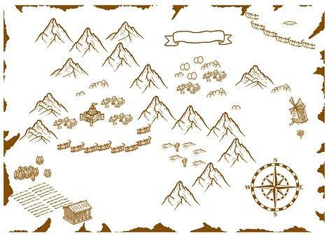 Fantasy, Map, Drawing, Fantasy Map