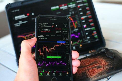 Stock Market, Chart, Smartphone, Finance