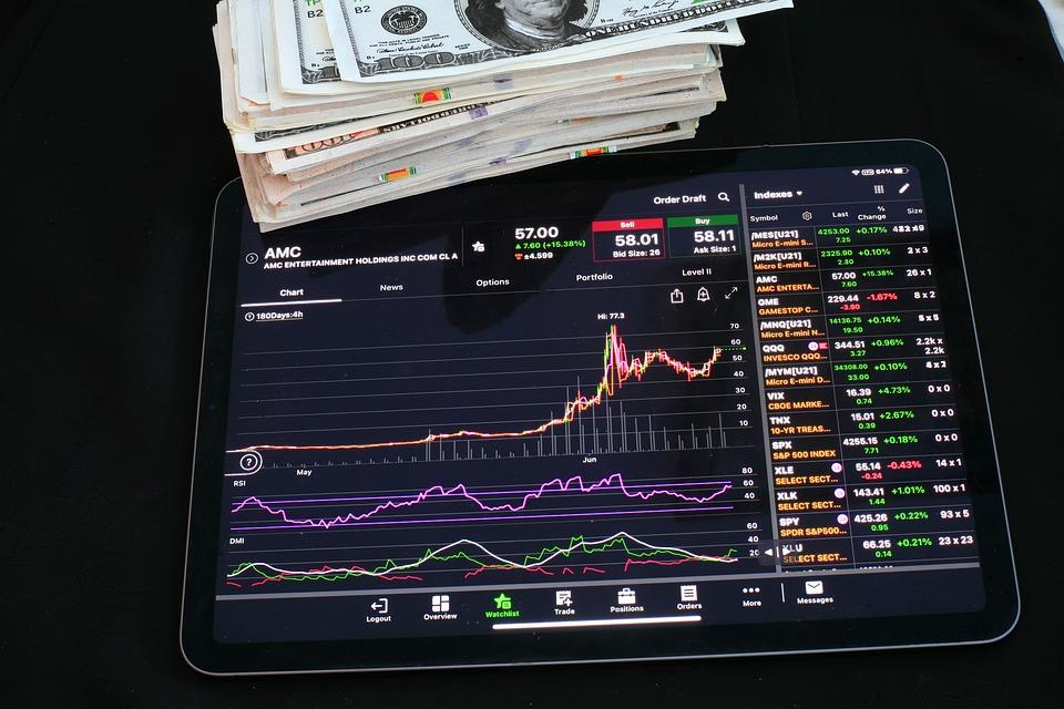 チャート, グラフ, 株式, 市場, 不況, 危機, 投資, ダウ, ナスダック, 取引, オプション