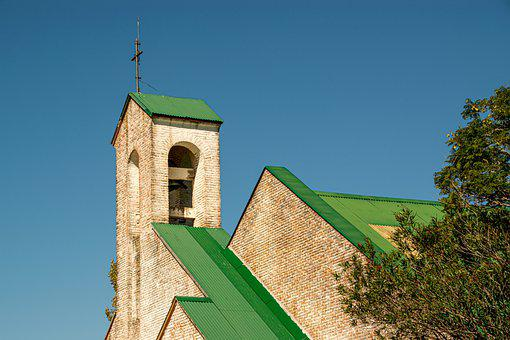 Church, Bell Tower, Cross, Architecture