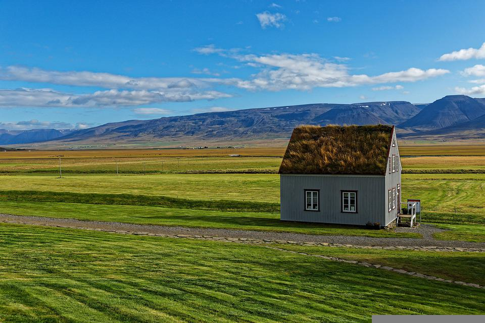 House, Field, Rural, Meadow, Landscape, Village