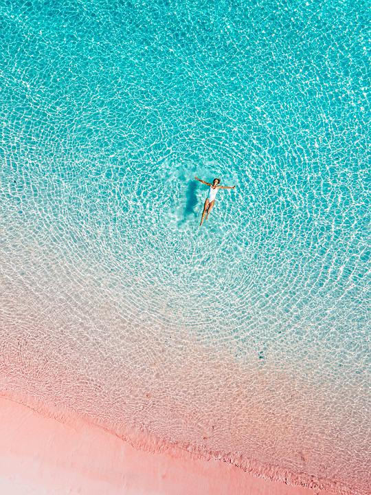 Pink Beach, Komodo, Sea, Float, Swim, Summer, Beach