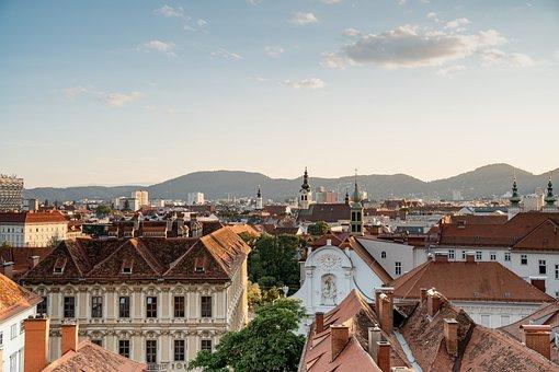 Austria, Graz City, Buildings, Skyline