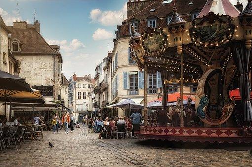 Carousel, Old Town, Urban, Dijon, France