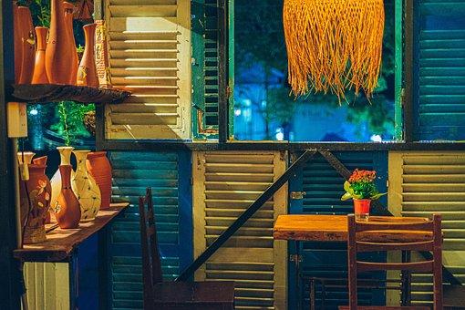 Cafe, Mesa, Sillas, Muebles, Decoración
