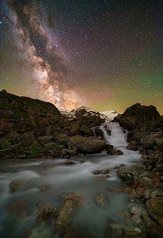 Milky Way, River, Starry Sky, Landscape