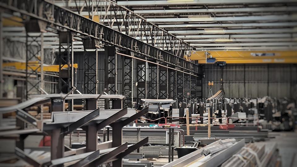 Industrie, Construction, Acier, Métal, Structure