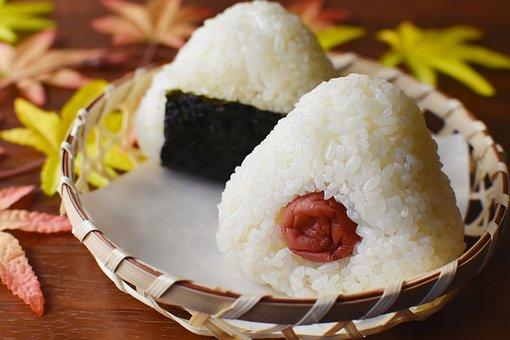 おにぎり, 日本料理, 皿, 食物