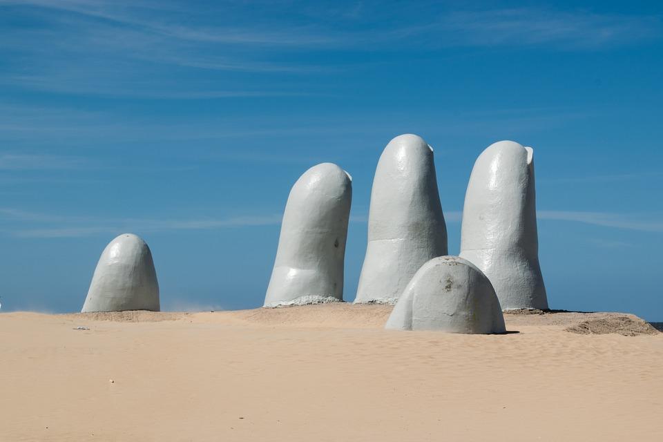 La Mano, Escultura, Areia, Punta Del Este, Maldonado