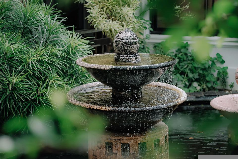 Add Geometric Stone Fountain for Ultimate Relaxation