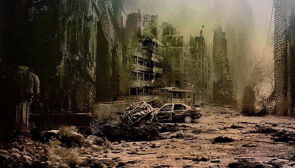 Apocalypse, City, Ruins, Buildings