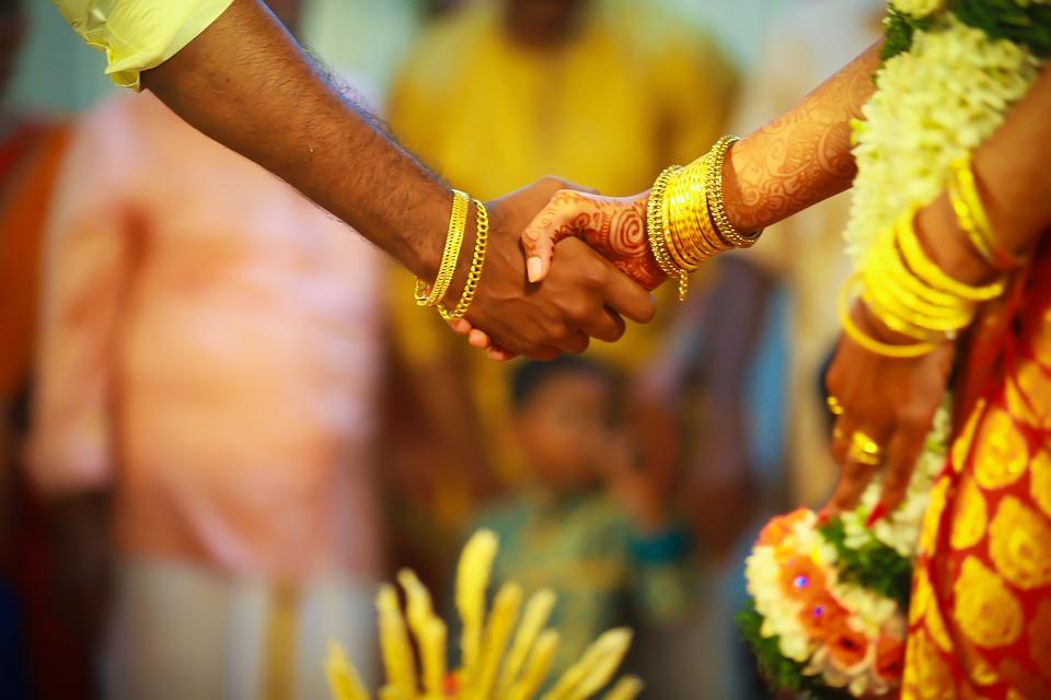Casal, Casamento, Casamento Indiano, Índia