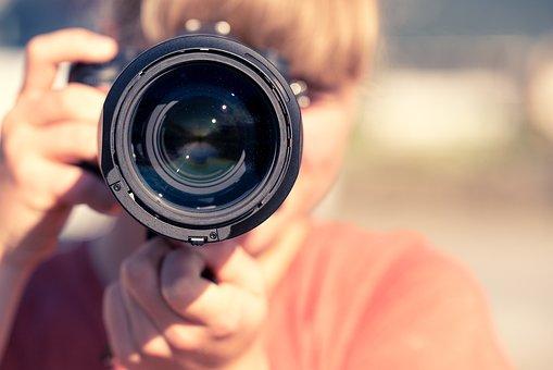 写真家, カメラ, 写真を撮る, デジタル一眼レフ, 一眼レフカメラ, レンズ