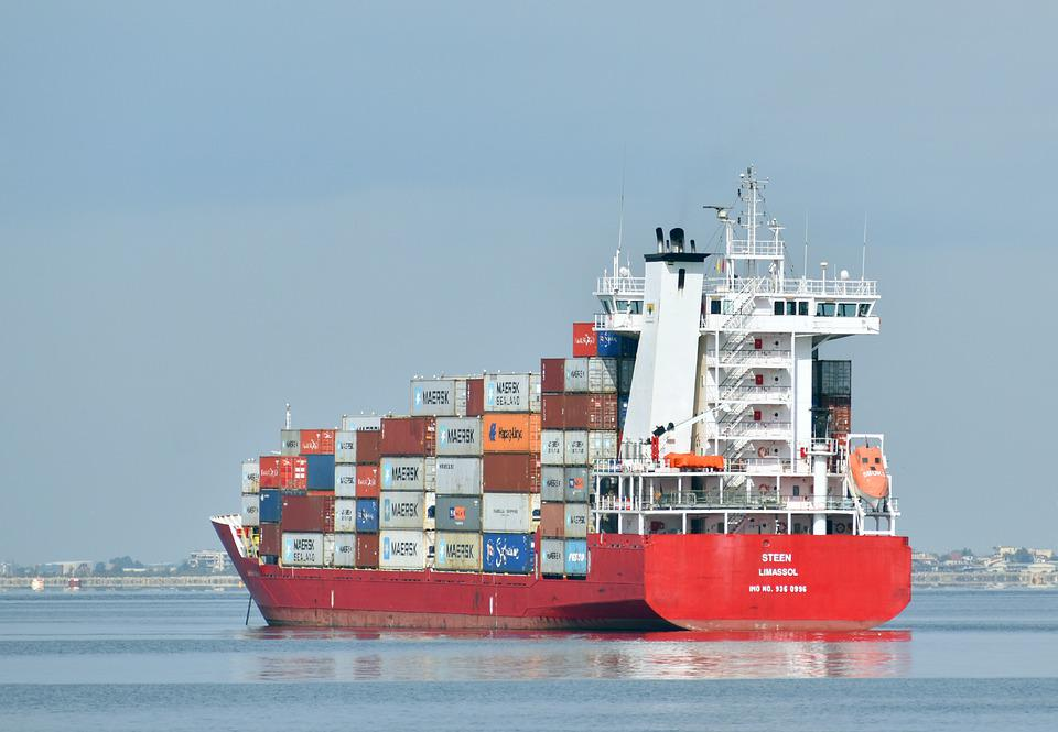 Cargo Ship, Freighter, Sea, Ship, Ocean, Container Ship