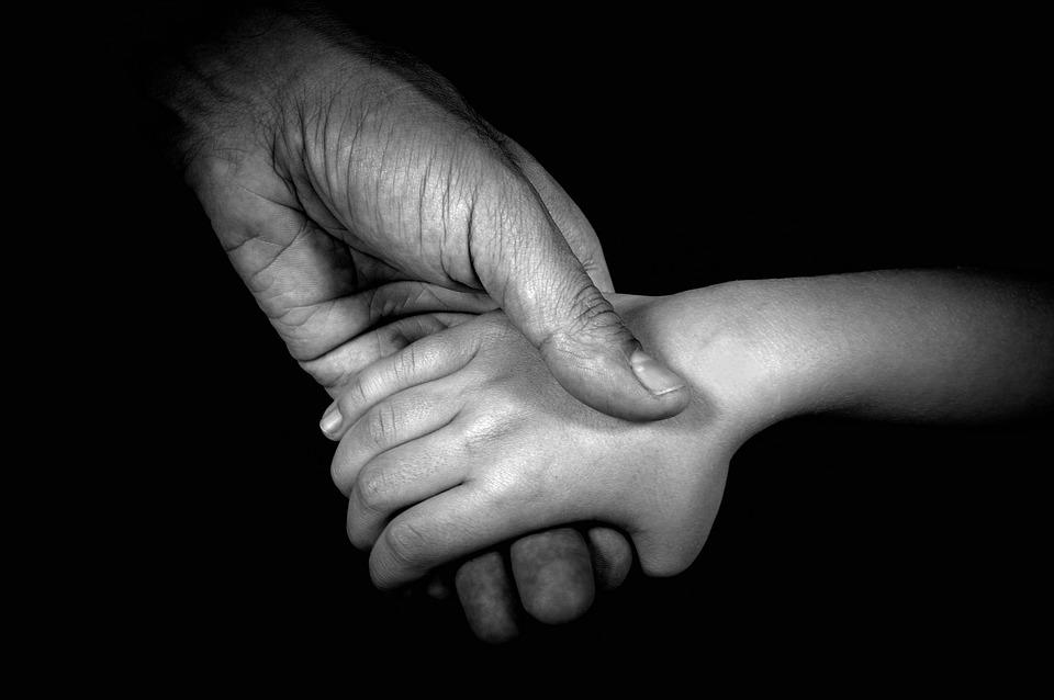 Hände, Familie, Elternteil, Kinder, Liebe, Baby