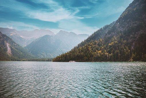 Lac, Montagnes, Nature, En Plein Air