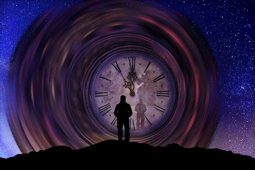 Time, Clock, Man, Universe, Transience